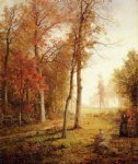 william trost richards gathering leaves art