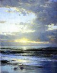 sunrise on the beach by william trost richards painting