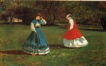 winslow homer a game of croquet paintings