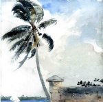 winslow homer a tropical breeze nassau painting-22221