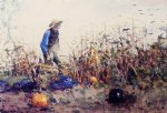 among the vegetables by winslow homer painting