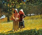 apple picking by winslow homer painting