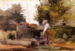 winslow homer at the well painting