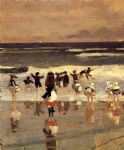 beach scene by winslow homer painting
