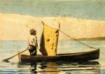 winslow homer boy in a small boat painting