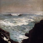 cannon rock by winslow homer paintings-22247