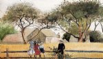 winslow homer children on a fence paintings