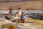 winslow homer children on the beach oil painting