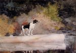 winslow homer dog on a log painting