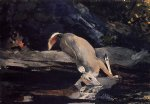 winslow homer fallen deer painting-22140