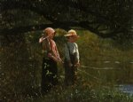 fishing ii by winslow homer painting