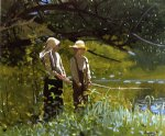 fishing by winslow homer painting