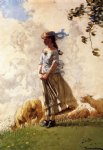 fresh air by winslow homer painting