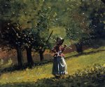 winslow homer girl with a hay rake painting