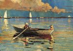 gloucester harbor by winslow homer painting