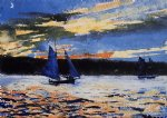 winslow homer gloucester sunset oil painting