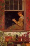 morning glories by winslow homer painting
