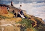 on the cliff by winslow homer painting
