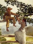 on the fence ii by winslow homer painting