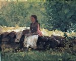 on the fence by winslow homer painting