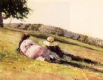 winslow homer on the hill oil painting
