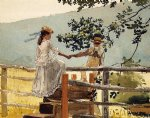 on the stile by winslow homer painting