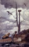osprey s nest by winslow homer painting