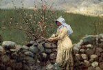peach blossoms by winslow homer painting