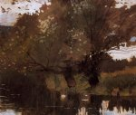 winslow homer pond and willows houghton farm painting