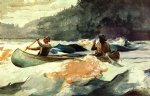 shooting the rapids by winslow homer painting