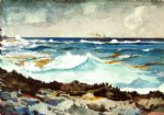 winslow homer shore and surf art
