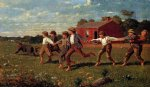 snap the whip by winslow homer painting
