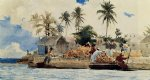 sponge fishing nassau by winslow homer painting