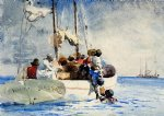 sponge fishing by winslow homer painting