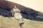 the garden wall by winslow homer painting