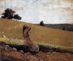 winslow homer the green hill oil painting