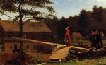 the morning bell by winslow homer painting