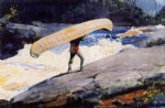 the portage by winslow homer painting