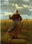 winslow homer the return of the gleaner painting