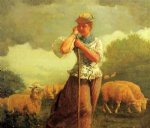 the shepherdess by winslow homer painting