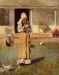the sick chicken by winslow homer painting