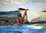 the spong diver by winslow homer painting