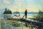 the trapper adirondacks by winslow homer painting