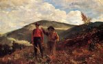 the two guides by winslow homer painting