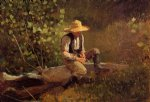 the whittling boy by winslow homer painting