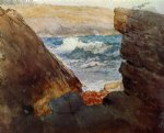through the rocks by winslow homer painting