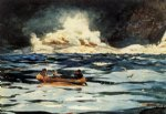 under the falls the grand discharge by winslow homer painting