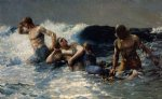 undertow by winslow homer painting