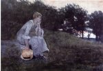 waiting by winslow homer painting