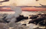 west point prout s neck by winslow homer painting